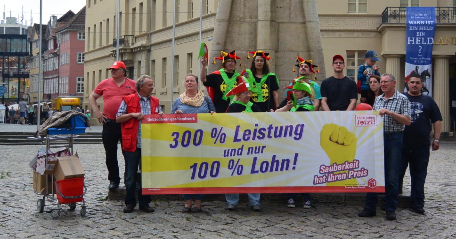 Video: Braunschweiger Originale unterstützen Forderungen der Gebäudereiniger