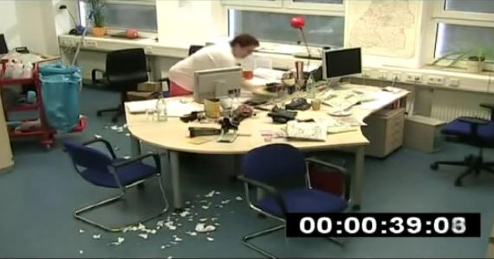Büro reinigen in 4 Minuten? Unfassbar!