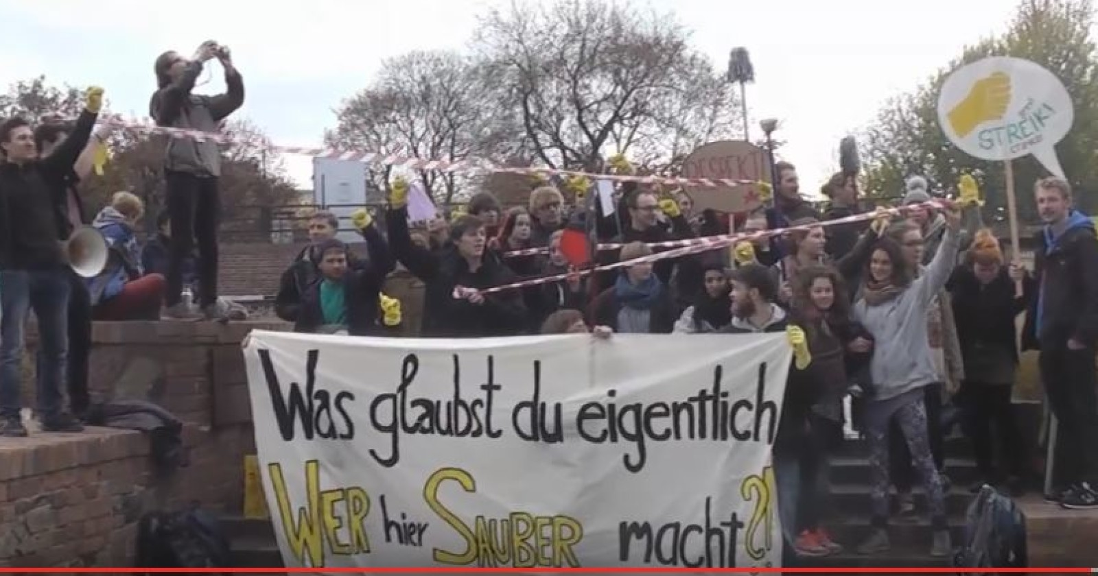 """Streiksolibündnis Leipzig: Video zur Flashmob-Aktion """"Aufstand der Unsichtbaren"""""""
