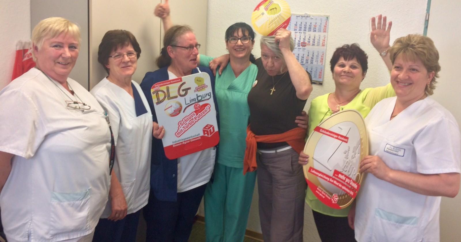 DLG Betriebsrat im Krankenhaus Limburg steht zur Tarifforderung der IG BAU