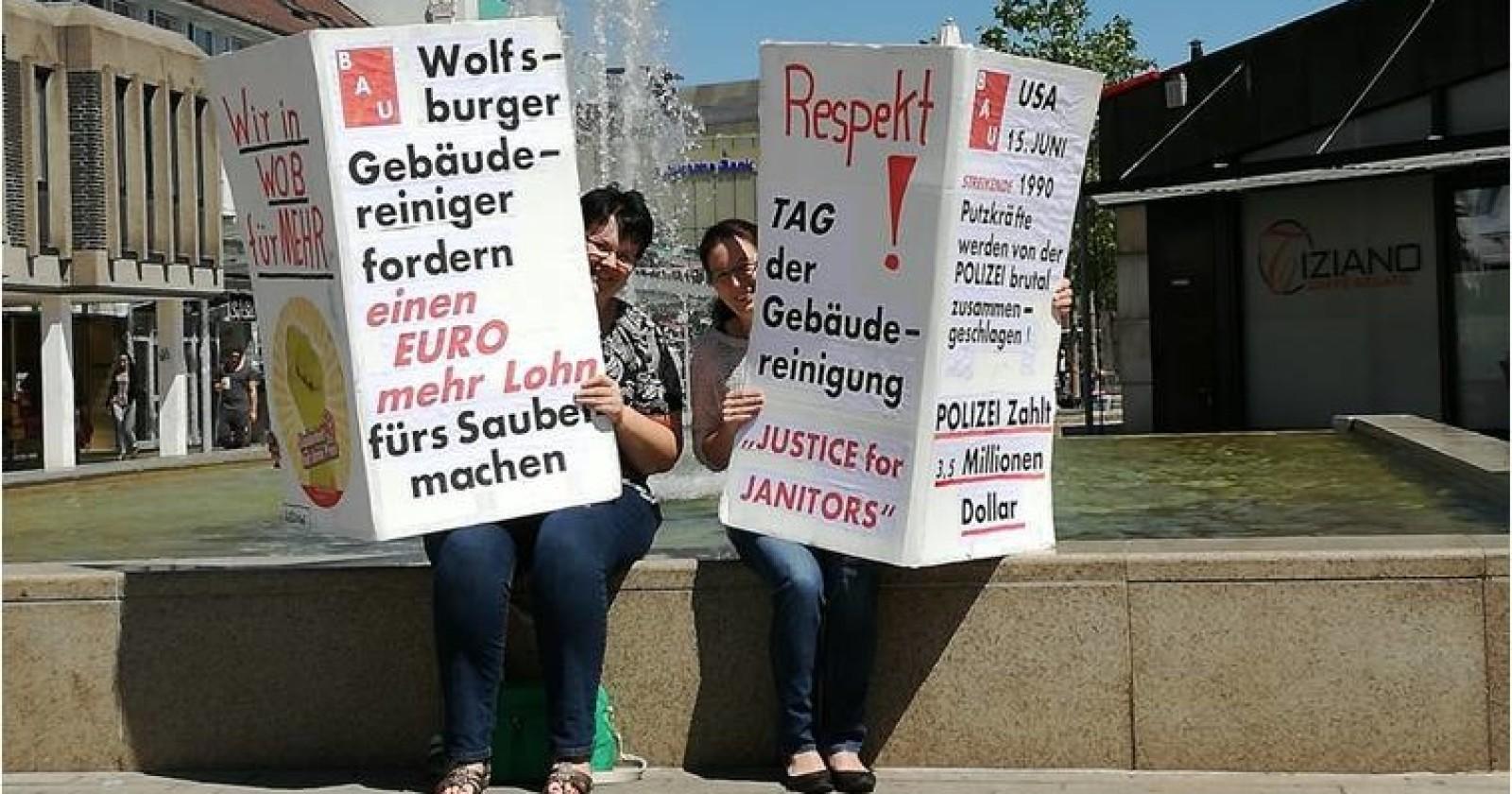 TAG DER GEBÄUDEREINIGUNG in WOLFSBURG - Plötzlich stehen wir auf allen Titelseiten!