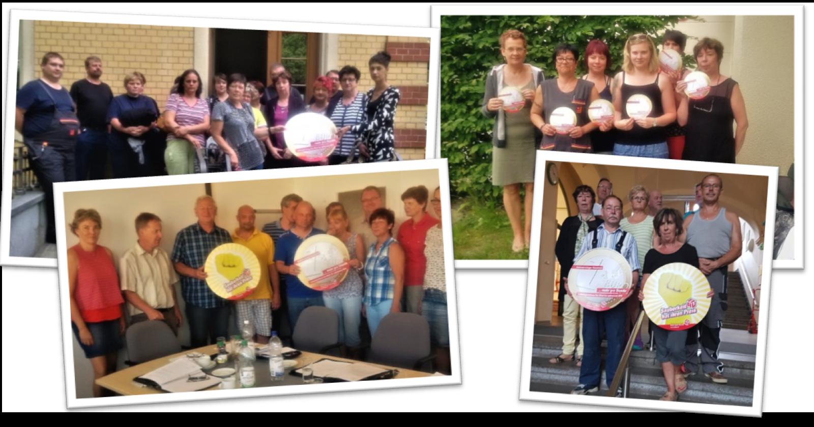 Piepenbrock- & Dussmann-KollegInnen aus Ostdeutschland unterstützen die Tarifforderungen der IG BAU
