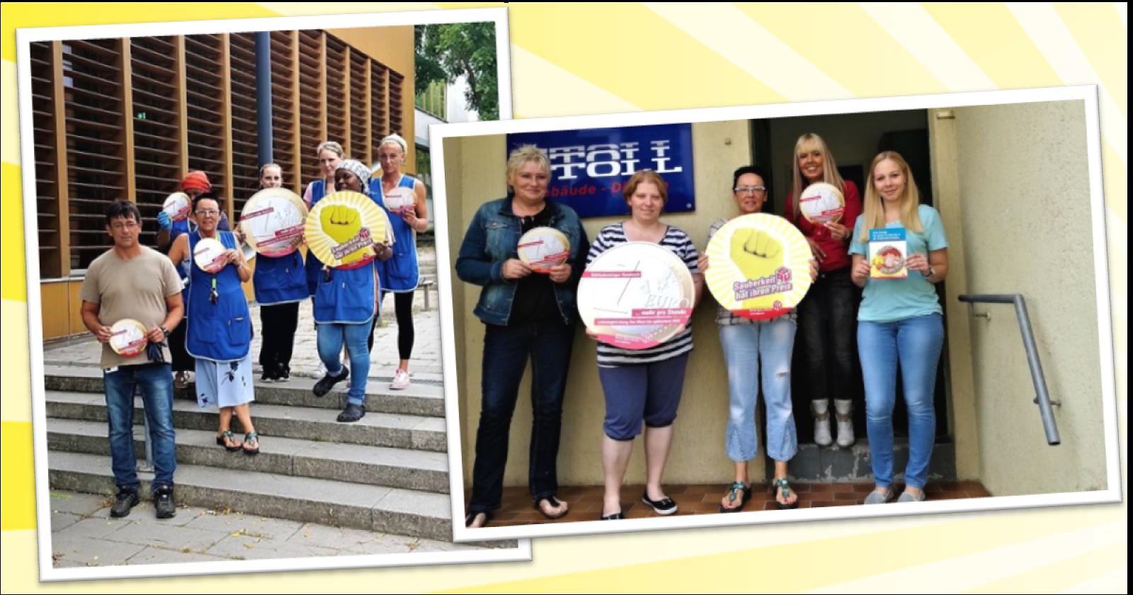 Betriebsrat und Beschäftigte von Stoll unterstützen die Tarifforderungen der IG BAU