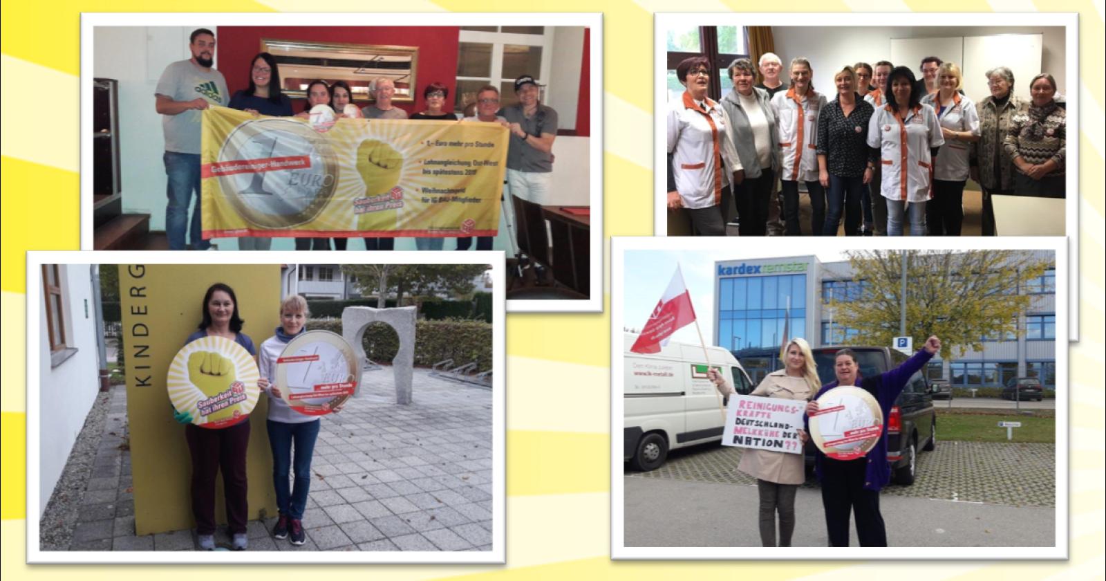 Kolleginnen & Kollegen aus Bayern fordern anständigen und einheitlichen Lohn in der Gebäudereinigung