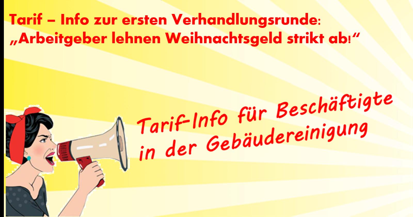 """Flugblatt zur ersten Tarifrunde: """"Arbeitgeber lehnen Weihnachtsgeld strikt ab!"""""""