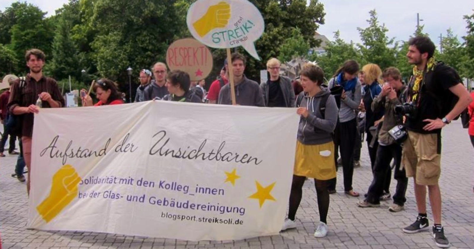 Streik Soli-Bündnis unterstützt Kolleginnen & Kollegen der Gebäudereinigung