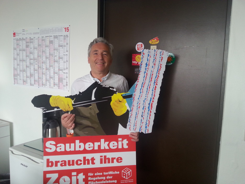 Der BR-Vorsitzende der Kaufhof Filiale Am Wehrhahn in Düsseldorf