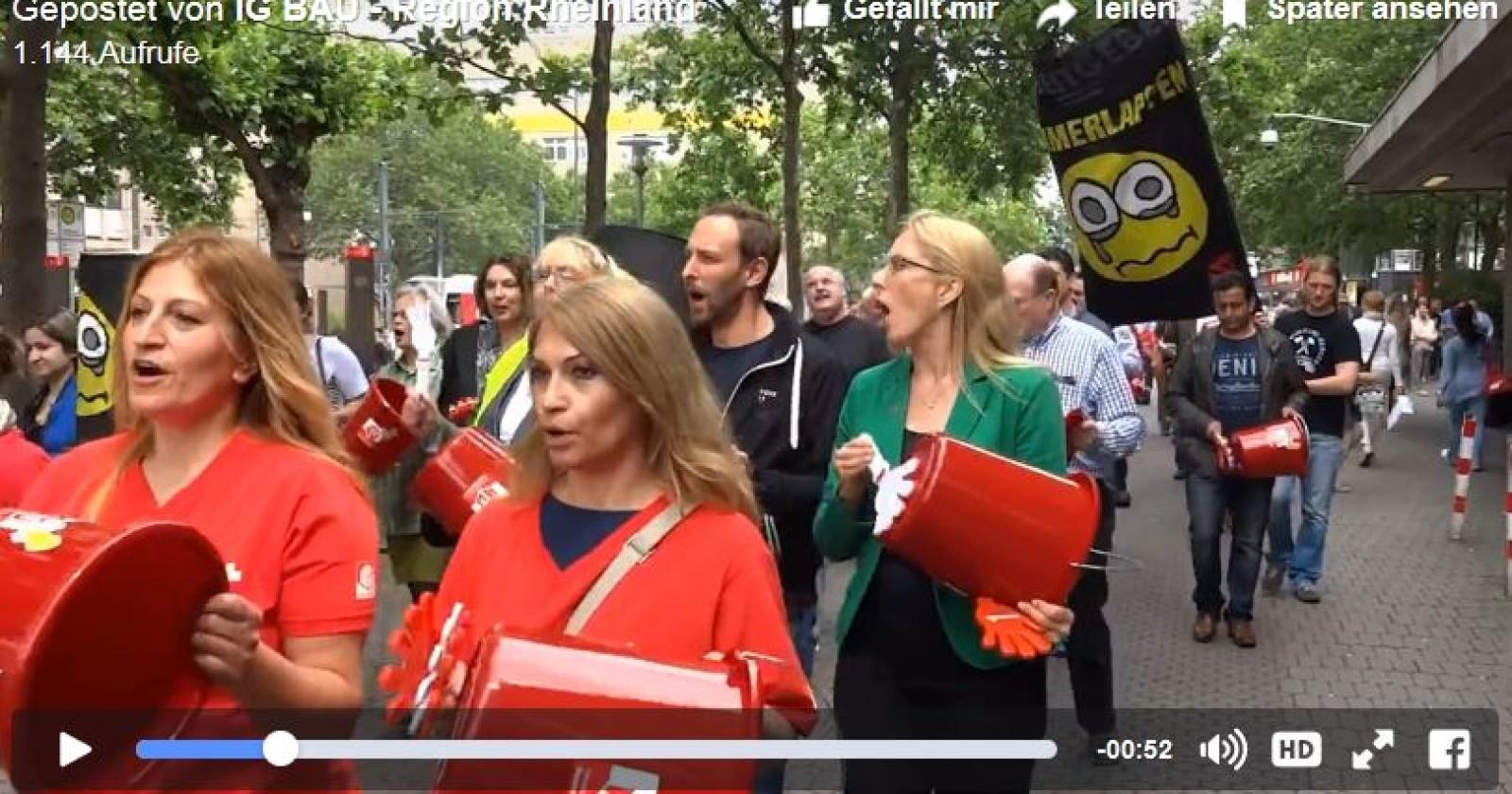 """Spontandemo im Rheinland - """"Stoppt das Turboputzen!"""""""