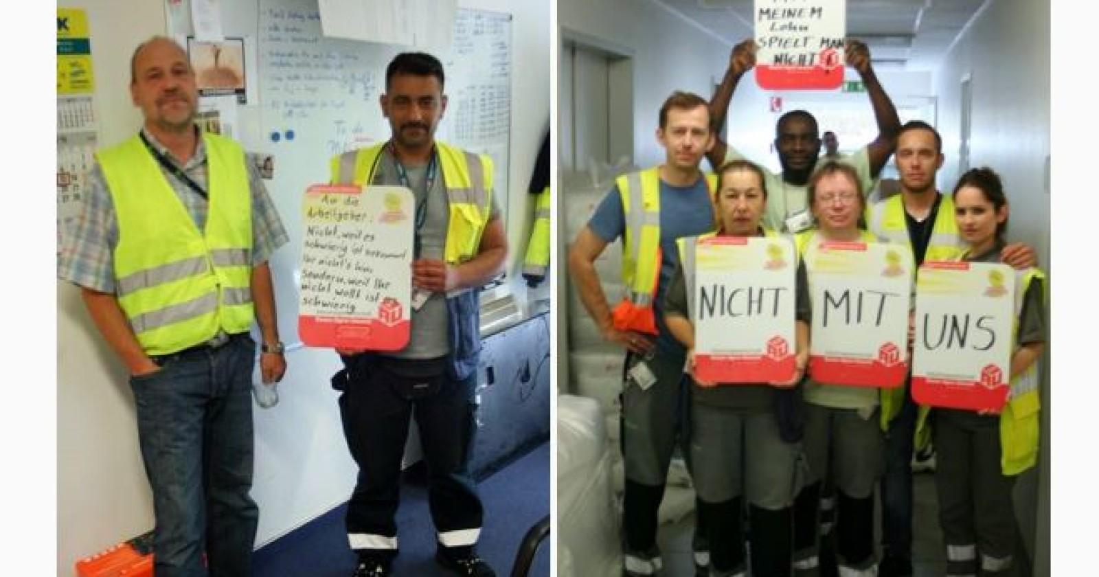 Gelebte Solidarität - Betriebsräte zu Besuch bei Wisag Airport Service in Berlin