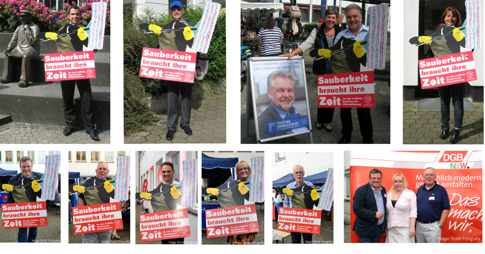 Die Bürgermeisterkandidaten in Mettmann wissen: Sauberkeit braucht ihre Zeit!