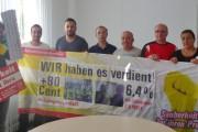 Angebot unannehmbar - BR und Beschäftigte bei ASM stehen zu Forderungen der IG BAU