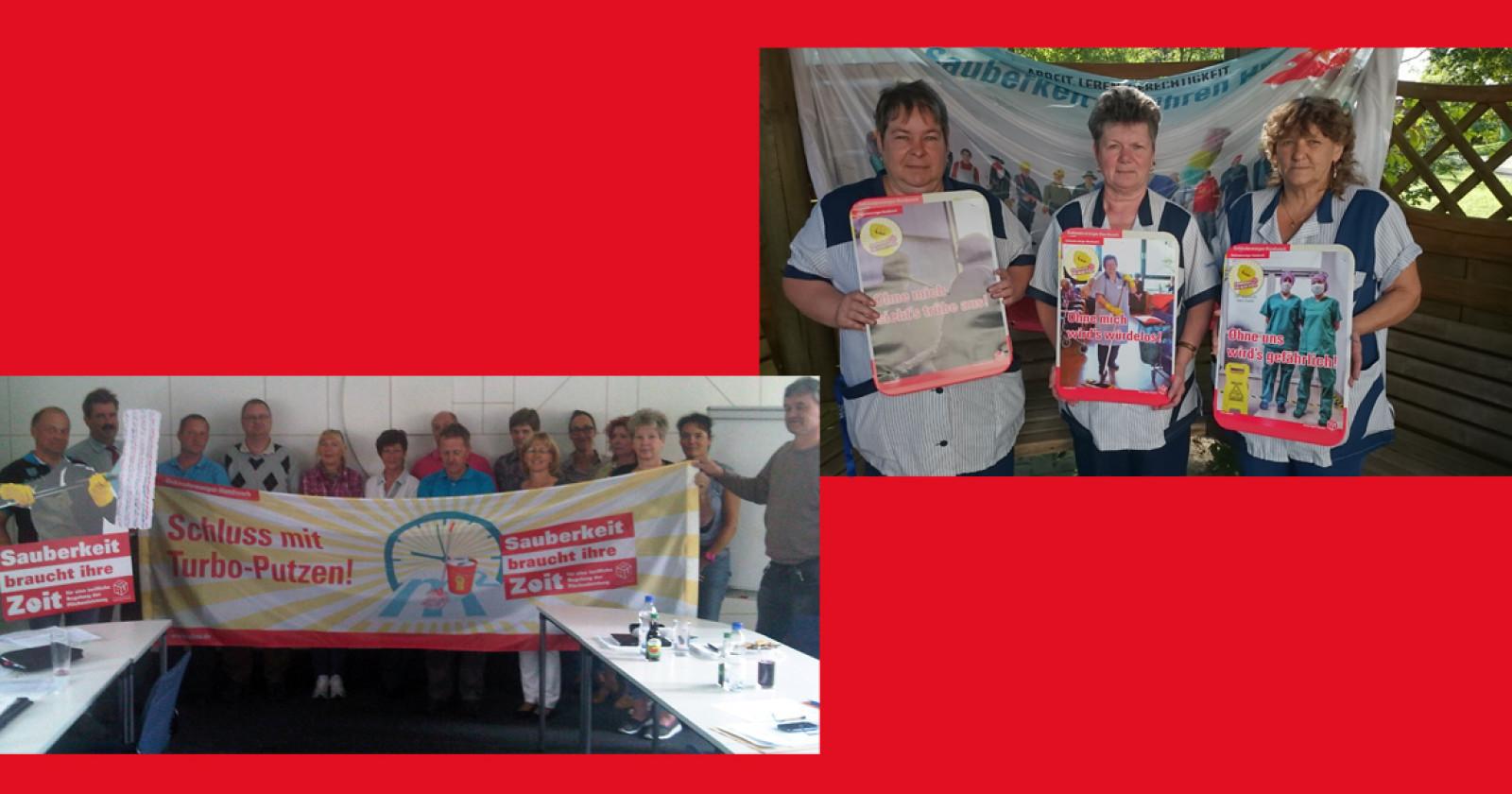 Kolleginnen & Kollegen in Dresden und Brandenburg fordern gleichen Lohn für gleiche Arbeit