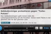 MDR: Gebäudereiniger protestieren gegen Turboputzen