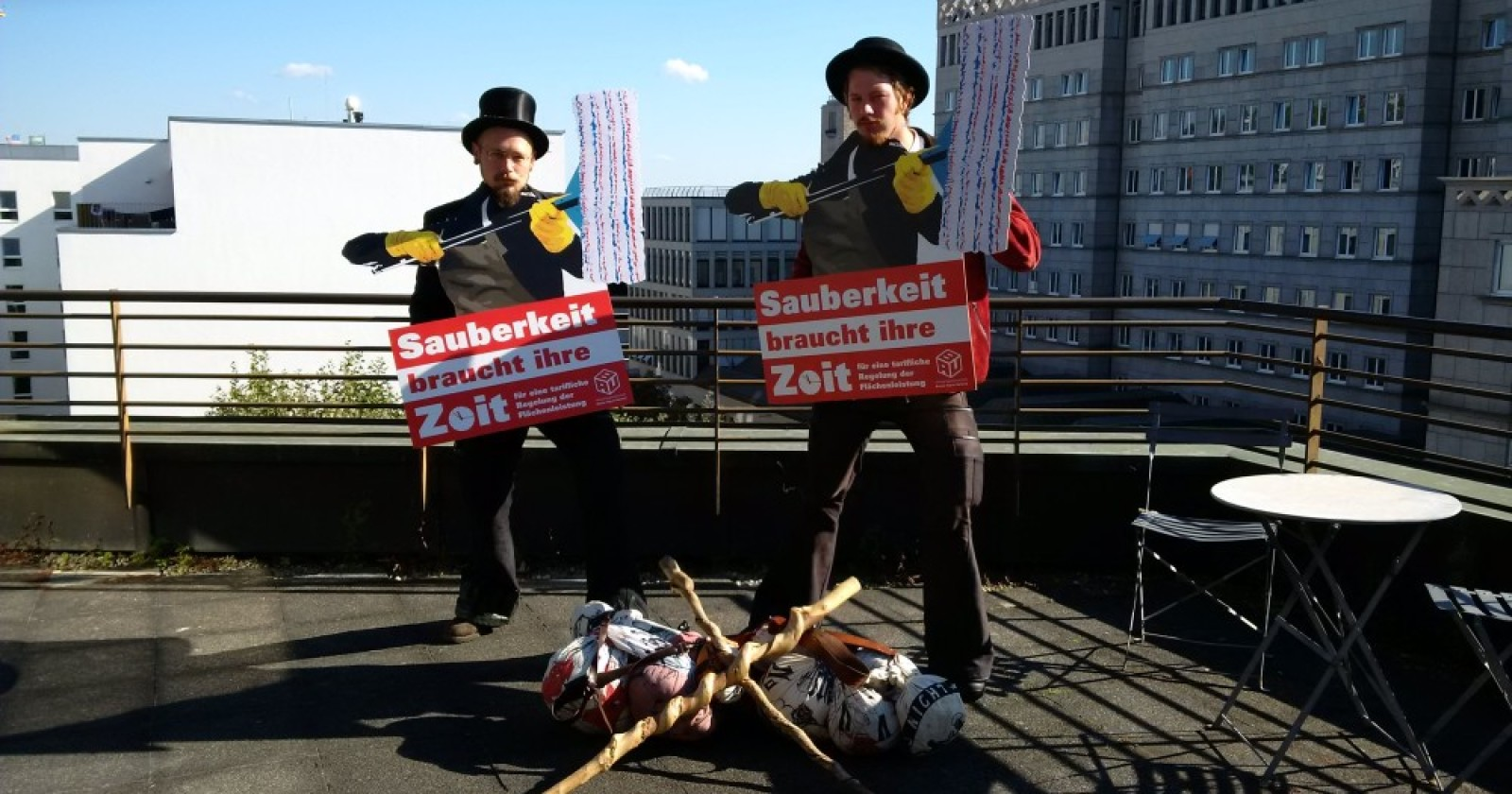 Solidarität über den Dächern von Stuttgart