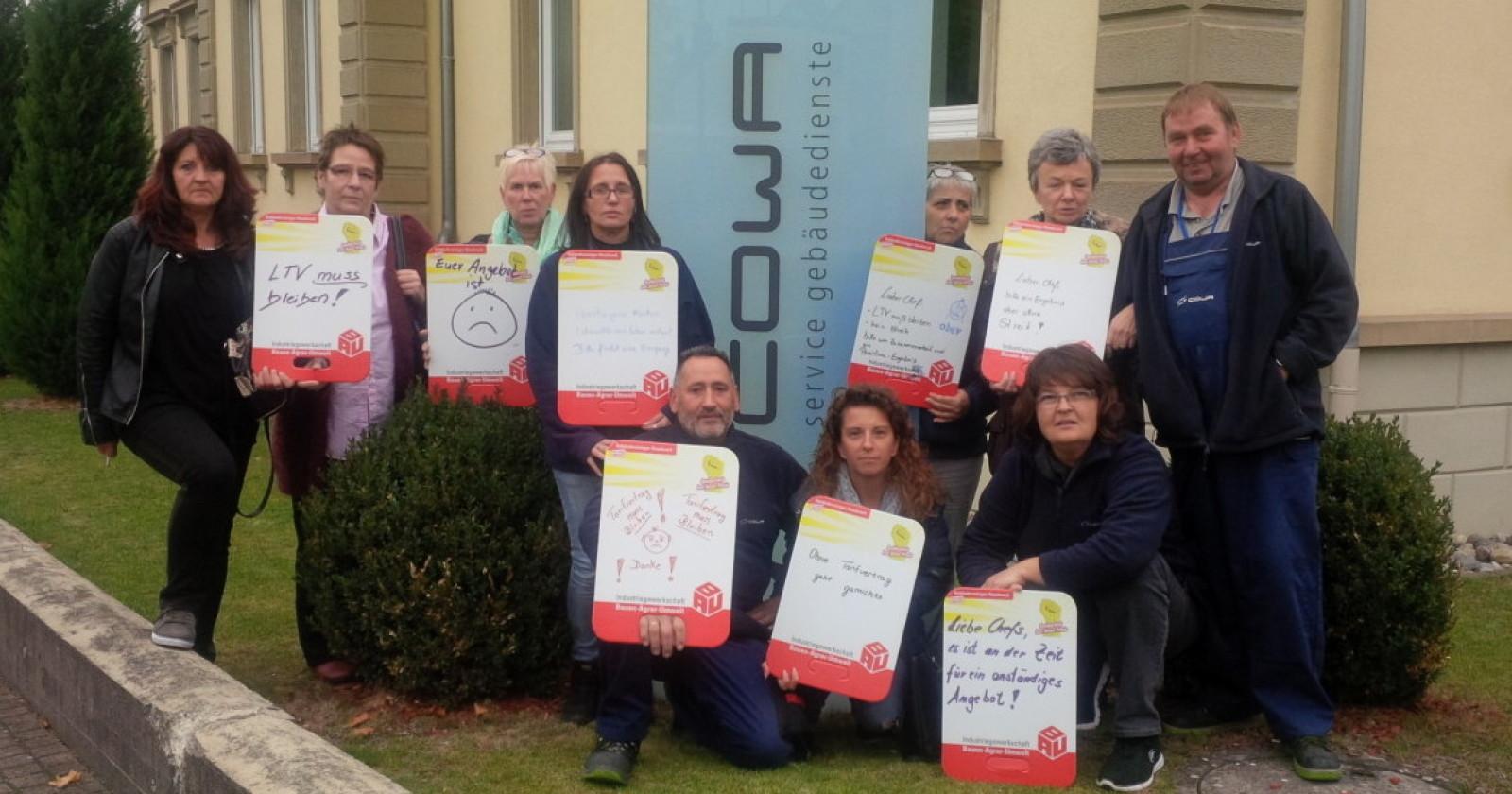 """Betriebsrat von COWA Gebäudedienste GmbH: """"Ein anständiger Tarifabschluss muss her!"""""""