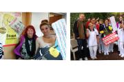 Von Norden bis Süden: Reinigungskräfte der Kliniken in Bremen und Stuttgart unterstützen Tarifforderungen der IG BAU