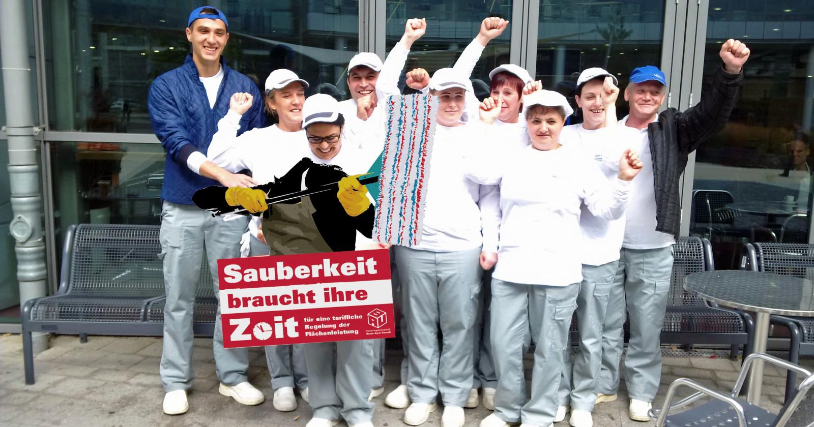 Kolleginnen & Kollegen von Tip Top bei Daimler in Sindelfingen wollen endlich 80 Cent mehr