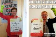 Bundestagsabgeordnete Jutta Krellmann & Inge Höger (die Linke) unterstützen unsere Forderungen
