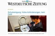 Westdeutsche Zeitung: Schulreinigung - hohe Anforderungen, kein Geld