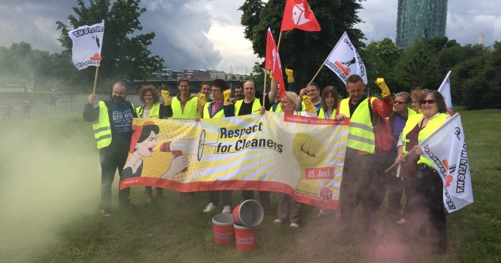 Respect for Cleaners - Tag der Gebäudereinigung in Frankfurt a.M.