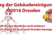 Tag der Gebäudereinigung 2016 - Dresden steht auf!