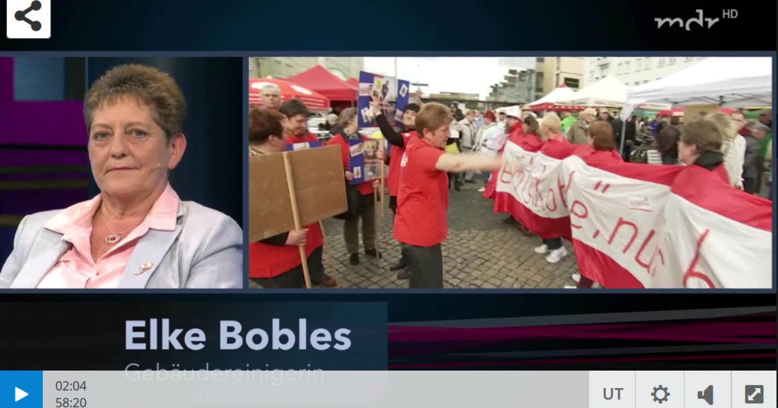 MDR: Fakt ist! Unsere  Kollegin Elke Bobles diskutiert mit.