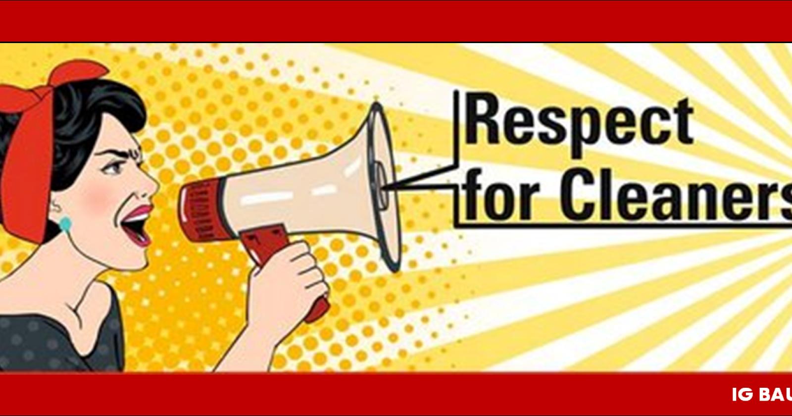 Tag der Gebäudereinigung: IG BAU fordert von Arbeitgebern mehr Respekt für Beschäftigte!