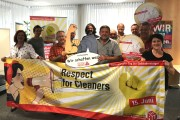 Betriebsräte aus dem Bauhauptgewerbe in Bayern unterstützen KollegInnen der Gebäudereinigung
