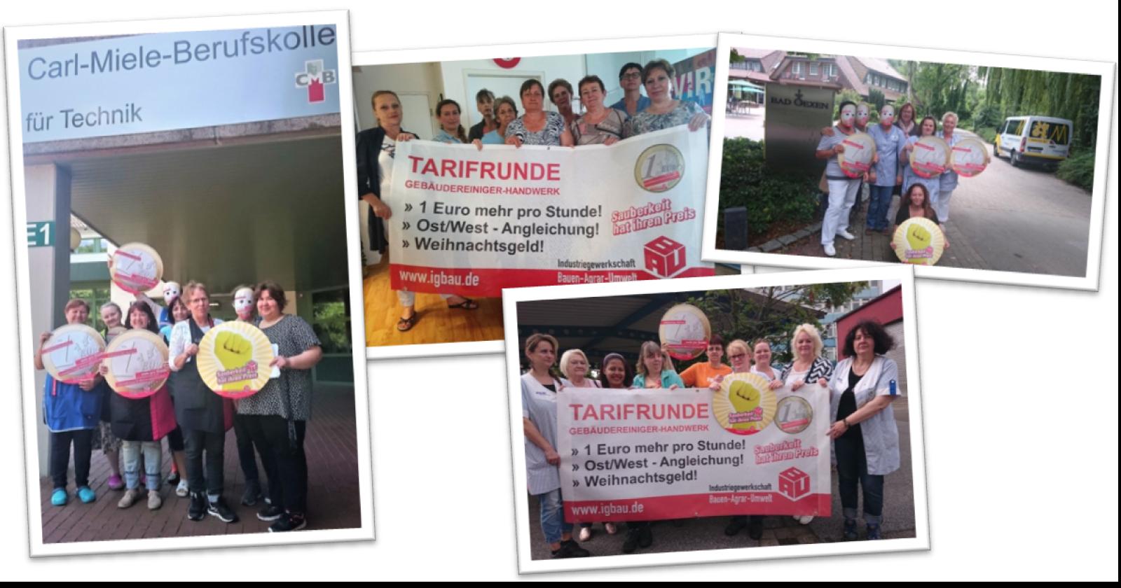 """""""Ohne Moos nix los!"""" KollegInnen aus Ostwestfalen-Lippe unterstützen die Tarifforderungen der IG BAU"""