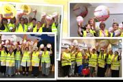 KollegInnen von Bastian Gebäudereinigung in Mannheim stehen geschlossen hinter Tarifforderungen der IG BAU