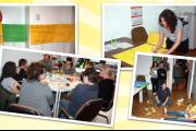 Basteln für Tarif - KollegInnen aus Westfalen bestens vorbereitet für Demo in Essen
