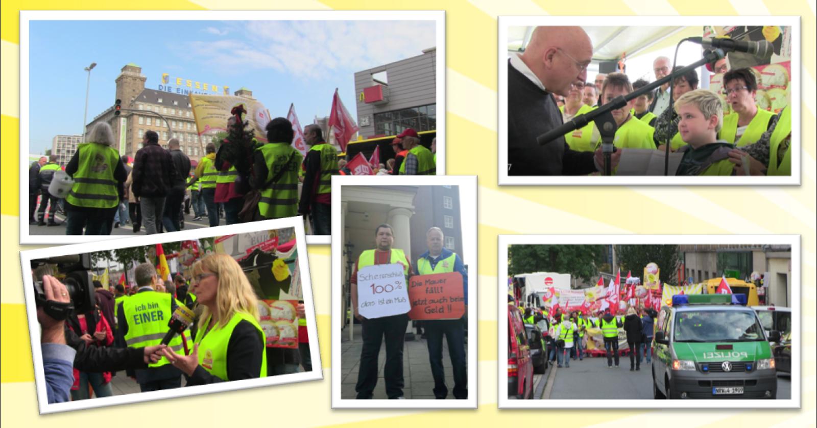 4.Tarifverhandlung im Gebäudereiniger-Handwerk in Essen - Die heutige Demo in Bildern