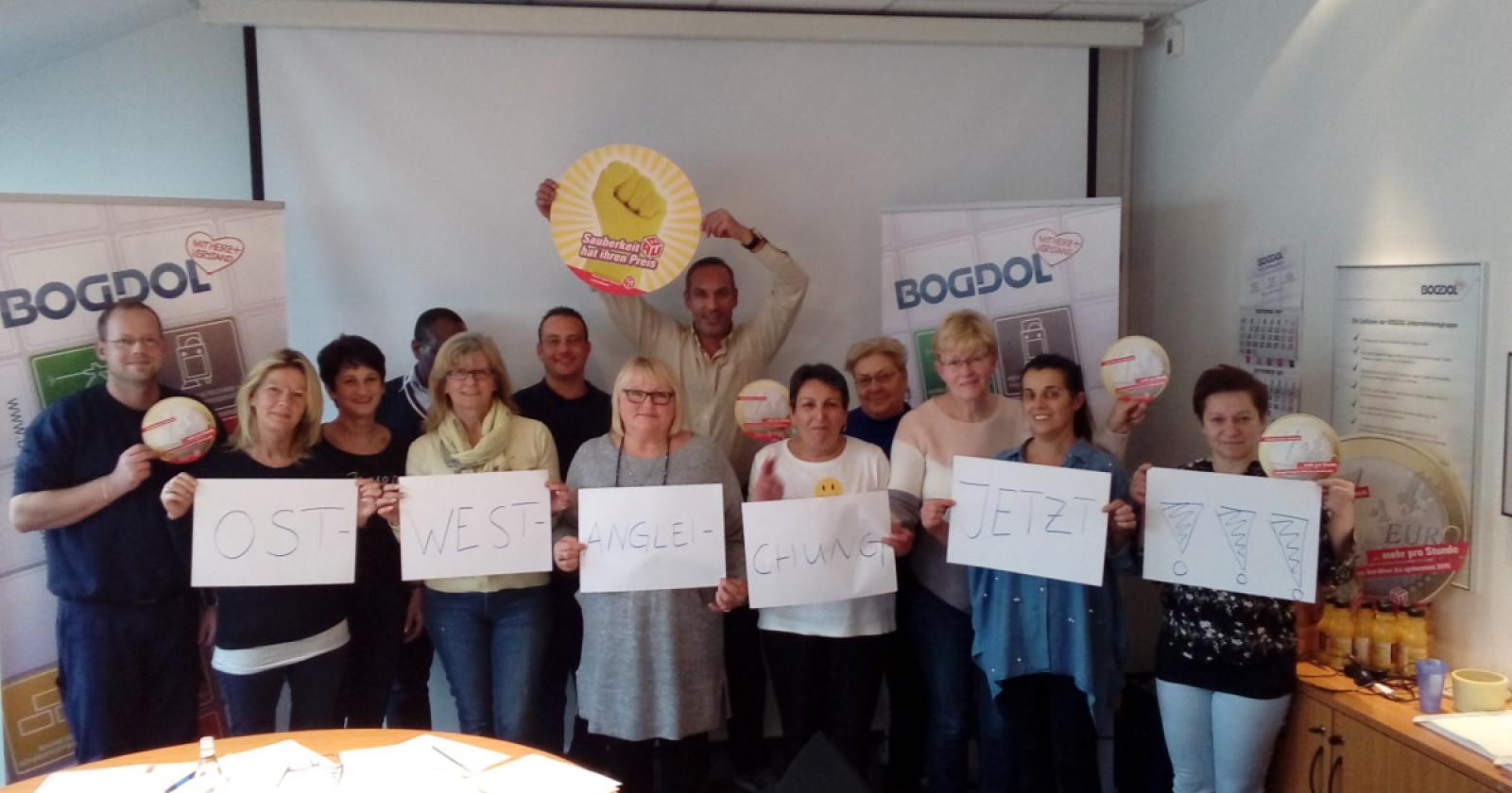 Beschäftigten der Firma Bogdol und Region Nord setzen klare Signale für die 6. Verhandlungsrunde