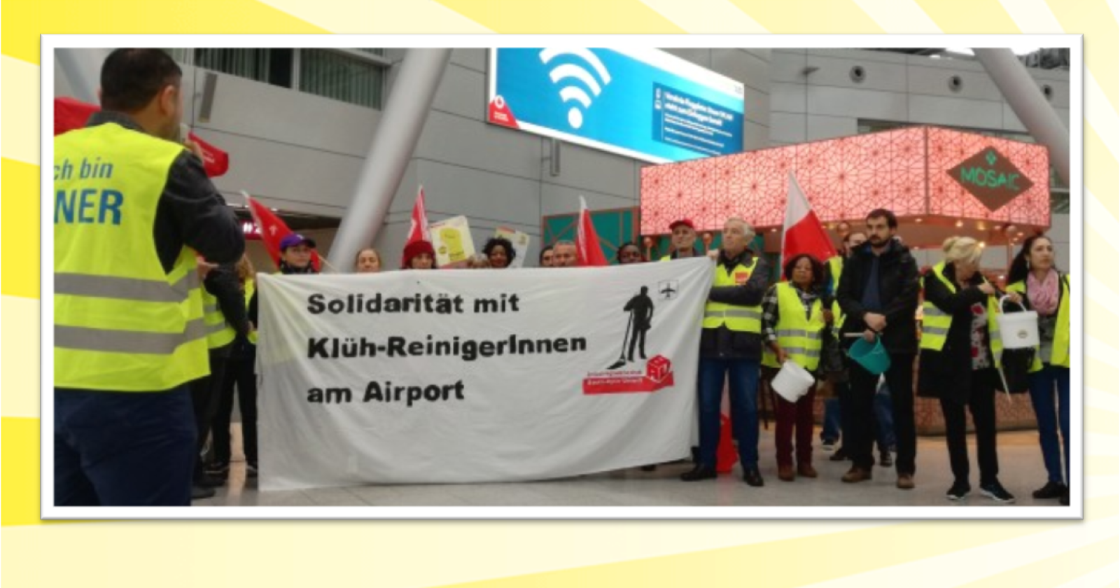 Online-Petition: Sozialtarifvertrag und Job-Erhalt für Reinigungskräfte am Düsseldorfer Flughafen