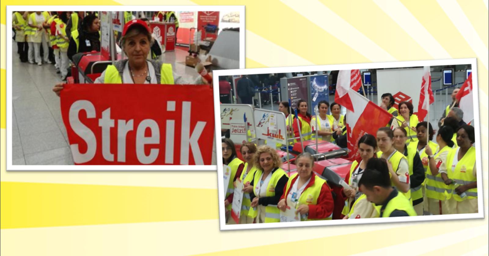 Reinigungskräfte am Flughafen Düsseldorf treten in den Streik