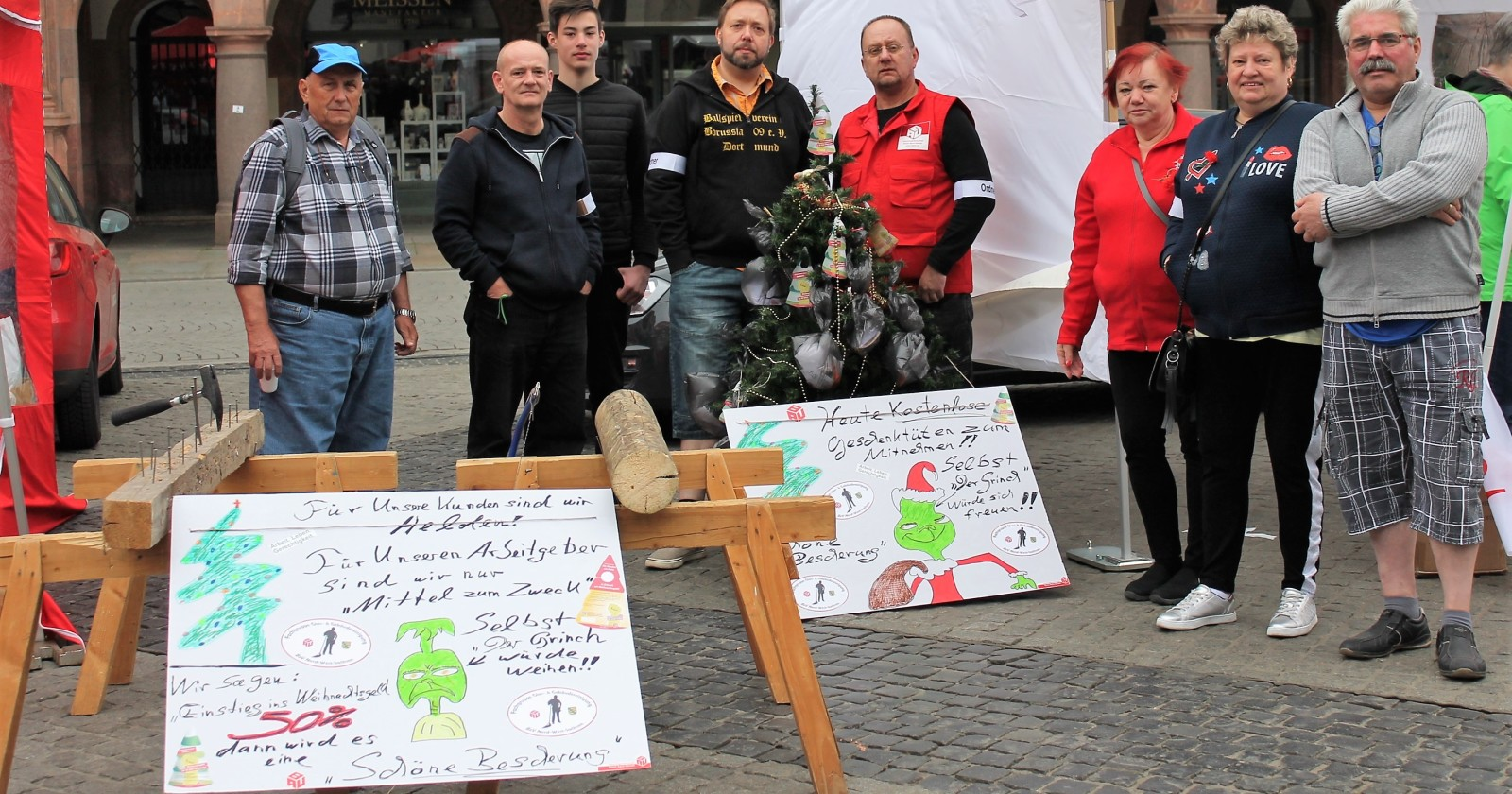 Fachgruppe Gebäudereinigung Nord-West-Sachsen informierte am 1. Mai über Forderung nach Weihnachtsgeld