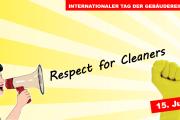 "Flugblatt: ""Justice for Janitors"" am 15. Juni ist Tag der Gebäudereinigung 2018"