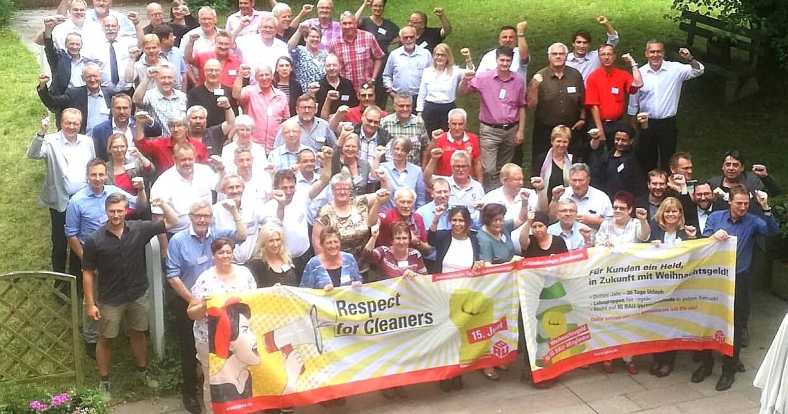 Der Gewerkschaftsbeirat der IG BAU erklärt sich solidarisch mit den Kolleginnen und Kollegen im Gebäudereiniger-Handwerk