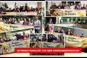 Berliner Reinigungskräfte feiern Internationalen Tag der Gebäudereinigung mit Grillfest und Besuchen in Objekten.
