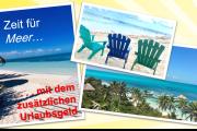 Für Mitglieder der IG BAU in der Gebäudereinigung: Zeit für Meer mit dem zusätzlichen Urlaubsgeld!