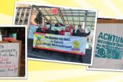 """Kollegen der FM Hanover GmbH: """"Wir sind dabei! Weihnachtsgeld auch für uns Gebäudereiniger hier am Hannoveraner Hauptbahnhof"""""""