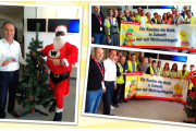 Weihnachtsmän besuchte die Kolleginnen und Kollegen von ASG am Frankfurter Airport.