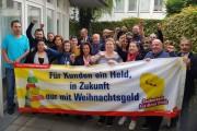"""KollegInnen der Düsseldorfer Fachgruppe Gebäudereinigung: """"Wir werden für das Weihnachtsgeld kämpfen!"""""""