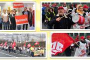 Impressionen von gestrigen Streiks in Wiesbaden und Frankfurt a.M.