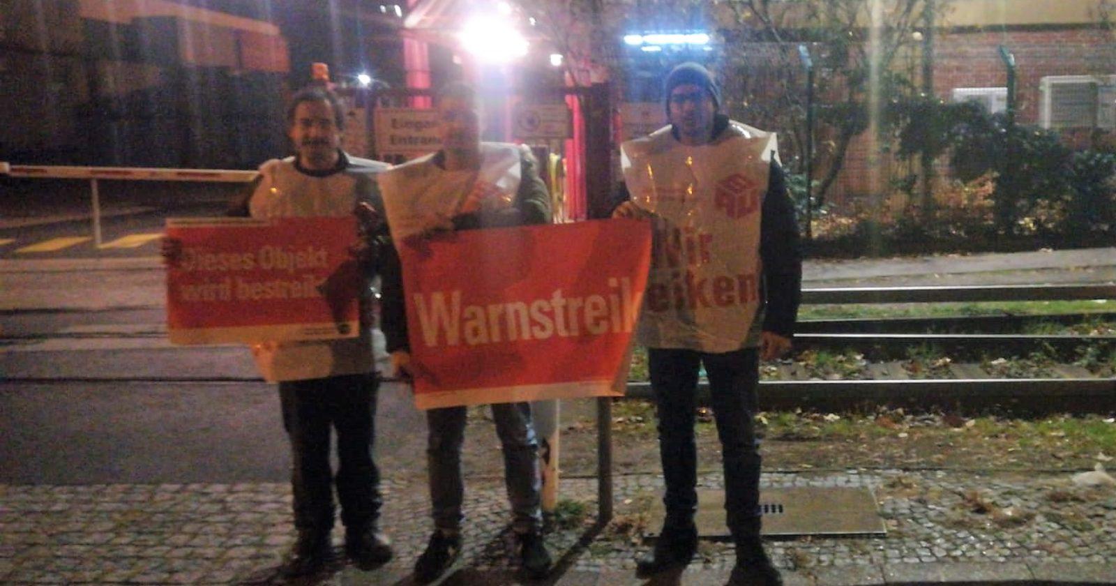 Kampf um Anerkennung – Nachtschicht von Piepenbrock in der Jacobs Douwe Egberts –Kafferösterei Berlin streikt