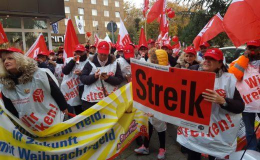 Video: Gebäudereiniger-Warnstreik fürs Weihnachtsgeld in Mönchengladbach