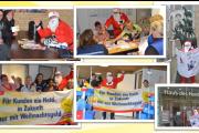 Auf der Jagd nach dem Weihnachtsgeld in Bremen - Weihnachtsmän zu Besuch bei Kolleginnen von Plural Servicepool
