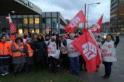 Warnstreik für Weihnachtsgeld auch bei ISS in Duisburg bei Thyssen Krupp