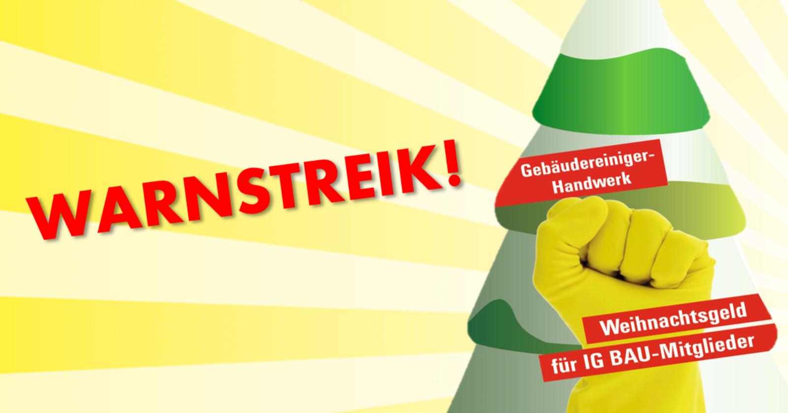 Tarifrunde im Gebäudereiniger-Handwerk - IG BAU startet Warnstreiks für Weihnachtsgeld
