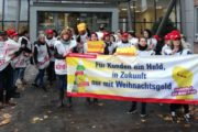 Warnstreiks fürs Weihnachtsgeld: 120 Gebäudereiniger in Dortmund legen ihre Arbeit nieder